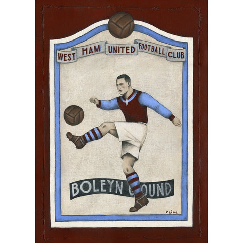 West Ham United Gift - West Ham Plaque Ltd Edition Signed Football Print | BWSportsArt