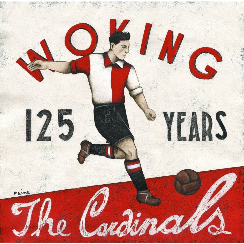 Woking FC - The Cardinals Limited Edition Print by Paine Proffitt - BWSportsArt