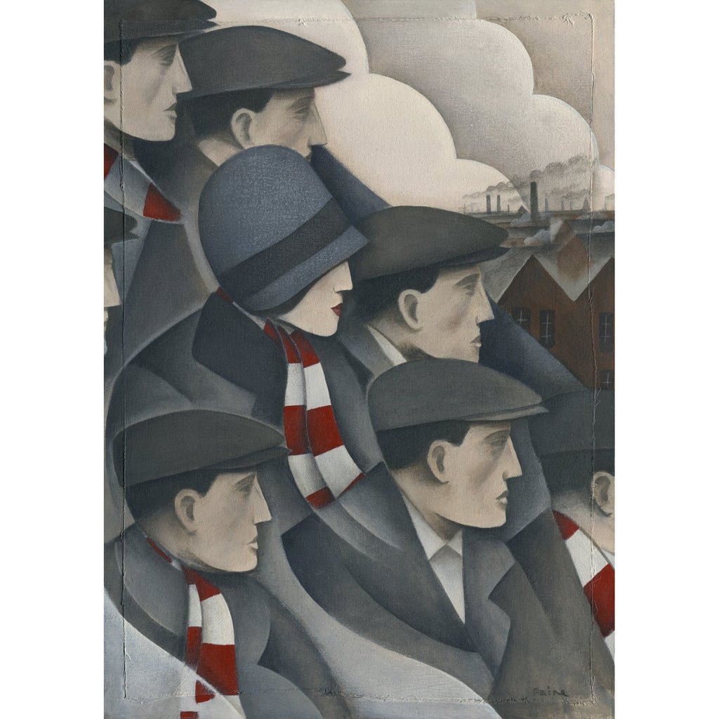 Woking Utd The Crowd Ltd Edition Print by Paine Proffitt - BWSportsArt