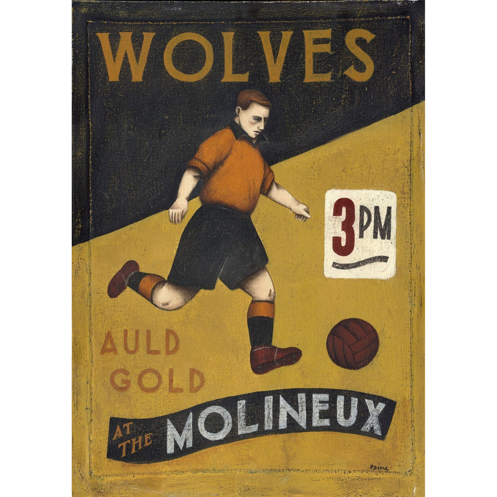 Wolves Auld Gold - Limited Edition Print by Paine Proffitt - BWSportsArt