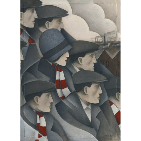 Wrexham The Crowd Ltd Edition Print by Paine Proffitt - BWSportsArt