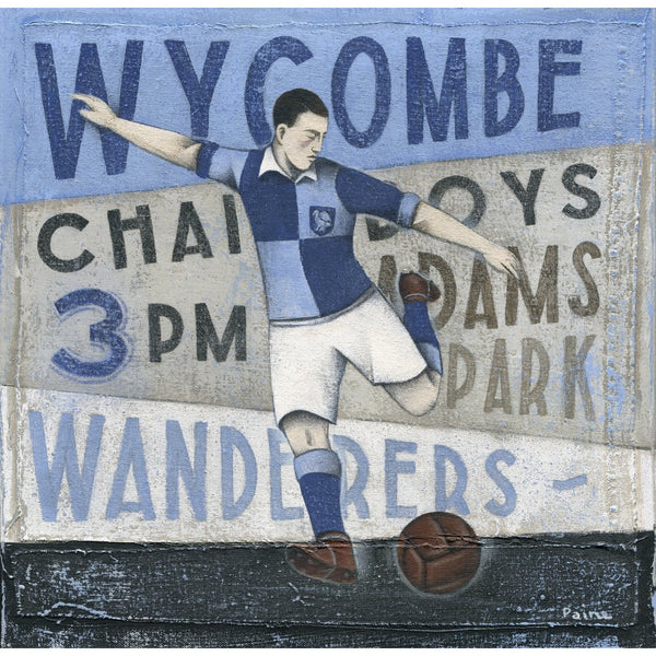 Wycombe Wanderers FC - Wycombe Wanderers Limited Edition Print by Paine Proffitt - BWSportsArt