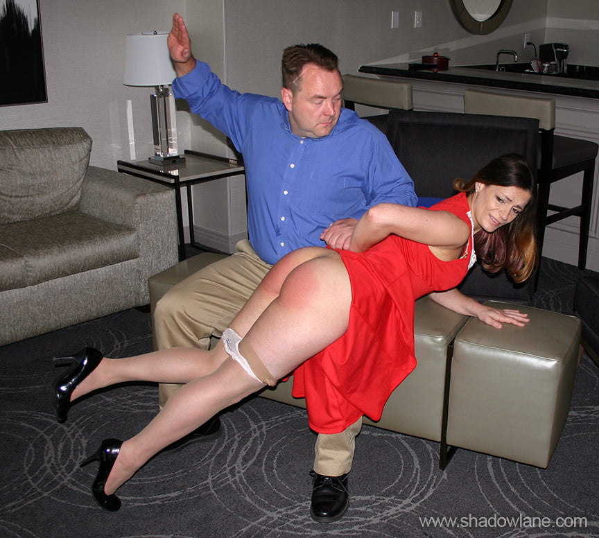 Spanking punishing wife after a confession