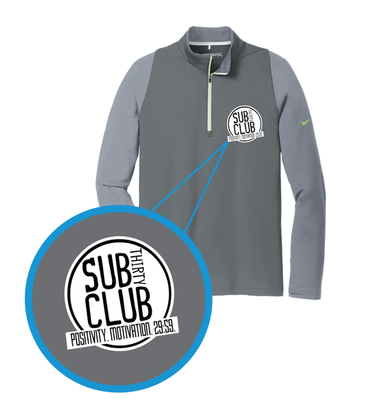 Sub 30 Club Embroidered Nike Golf Dri-FIT Stretch 1/2-Zip Cover-Up