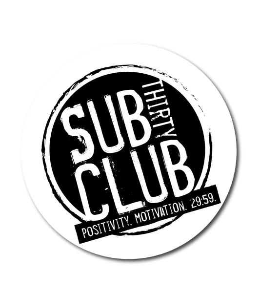 Sub 30 Club Classic Design Decal