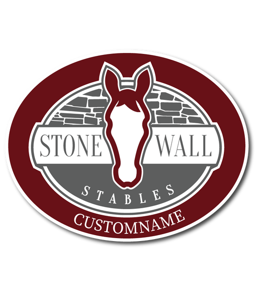 Stone Wall Stables Car Decal