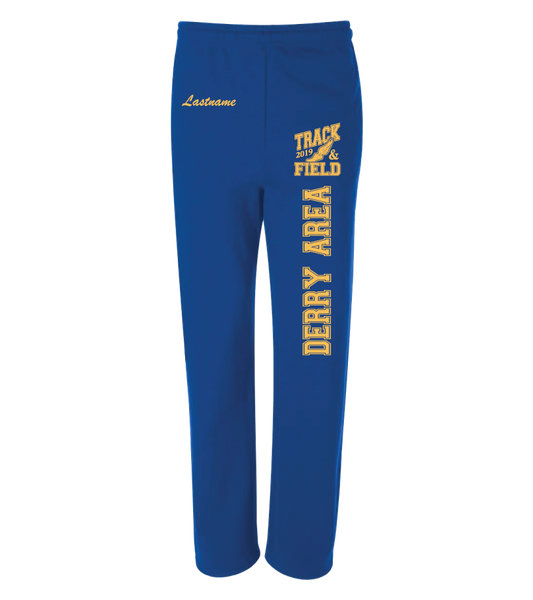 DAMS Track 2019 Jerzees® NuBlend® Open Bottom Sweatpants with Pockets