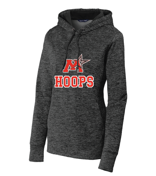Monticello Basketball Sport-Tek® Ladies PosiCharge® Electric Heather Fleece Hooded Pullover