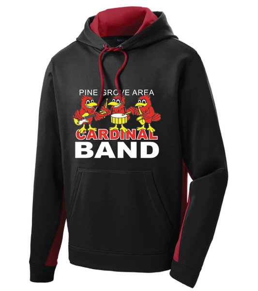 PGA Cardinal Band Sport-Tek® Sport-Wick® Fleece Colorblock Hooded Pullover - Adult, Ladies, & Youth