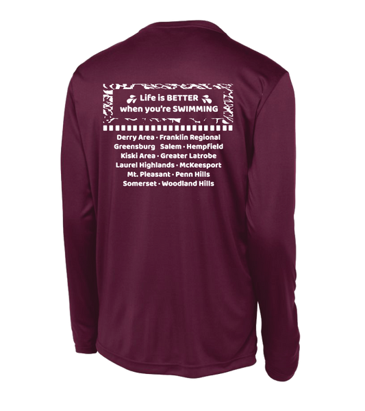 MS Swim Champs 2017 Sport-Tek® PosiCharge® Long Sleeve Competitor™ Tee