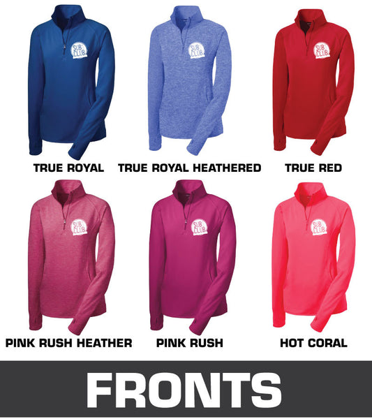 Embroidered Sport-Tek® Ladies Sport-Wick® Stretch 1/2-Zip Pullover