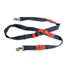 Petwale Multi-function Leash - Blue with red loops