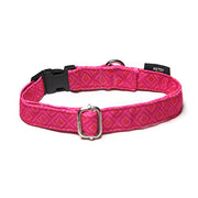 Petsy Bandhani Dog Collar - Pink