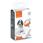 M-Pets Puppy Training Pads - Easy Fix Pads with Stickers (30 Pcs)