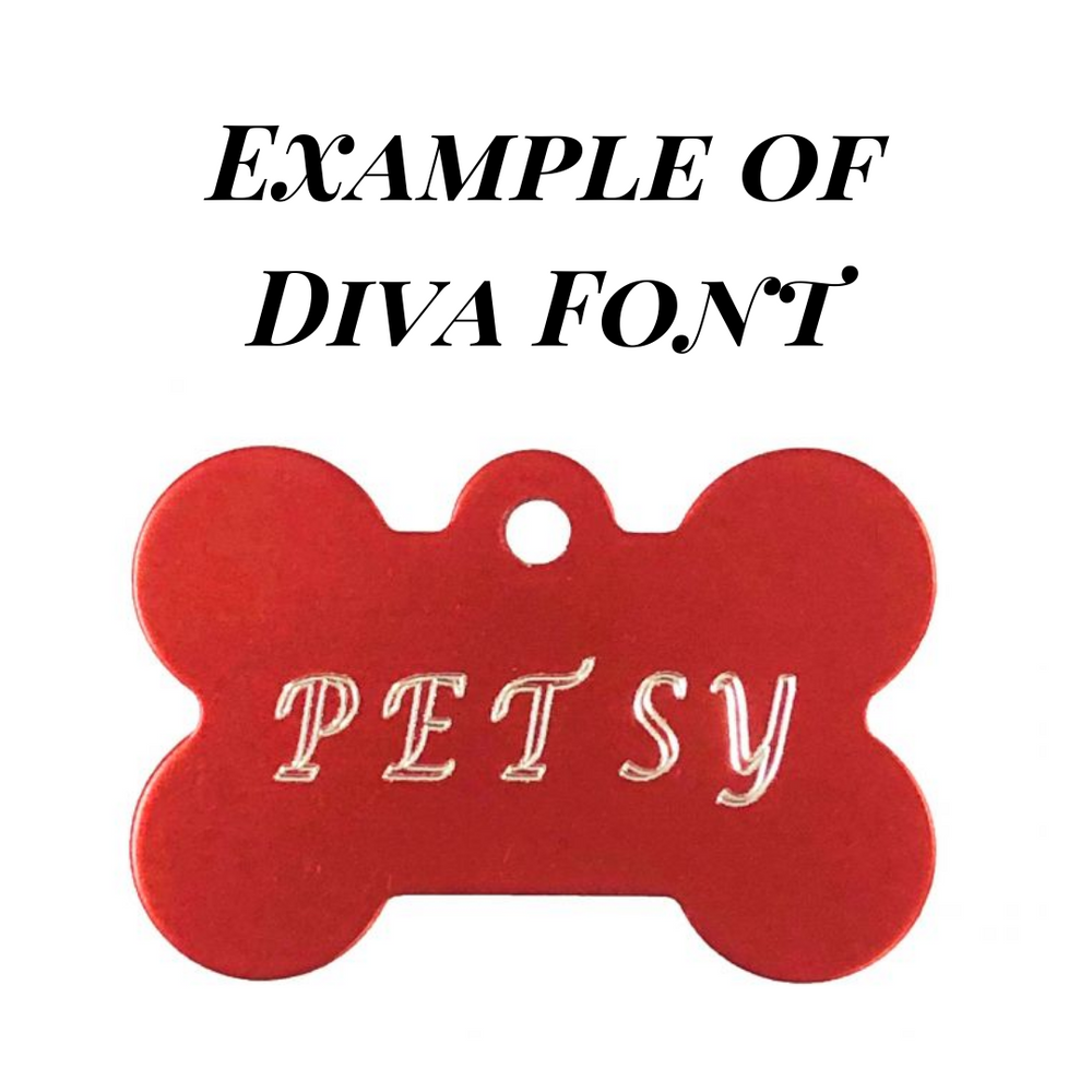 Personalised Petsy Dog Tag - Large Bone (Multiple Colours)