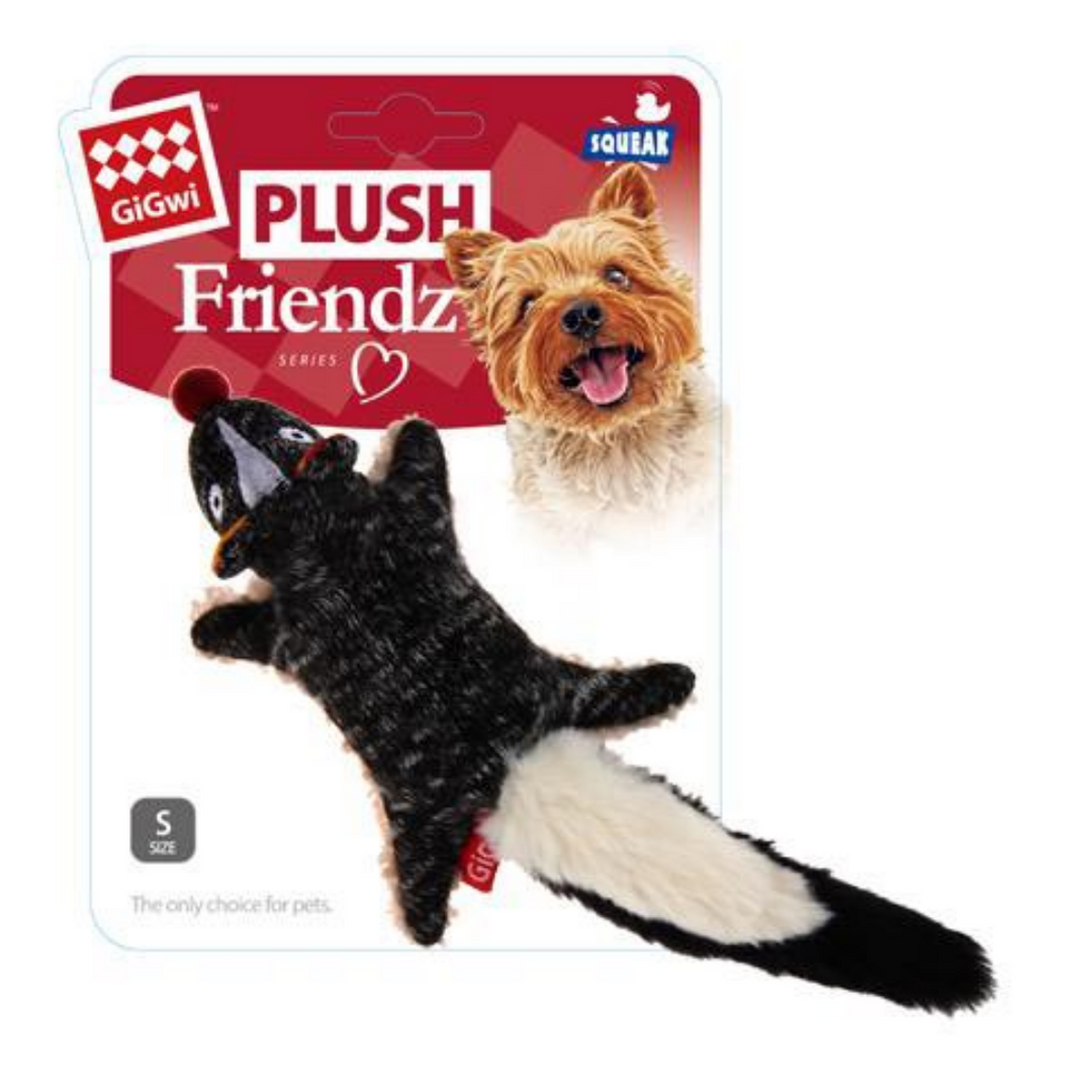 GiGwi Plush Friendz with foam speaker - Skunk
