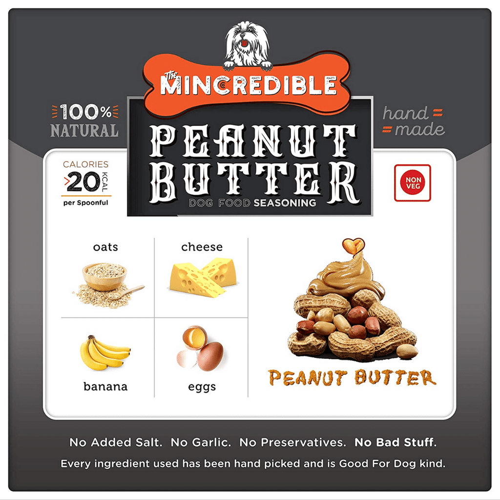 Mincredible Dog Food Seasoning Flavour - Peanut Butter