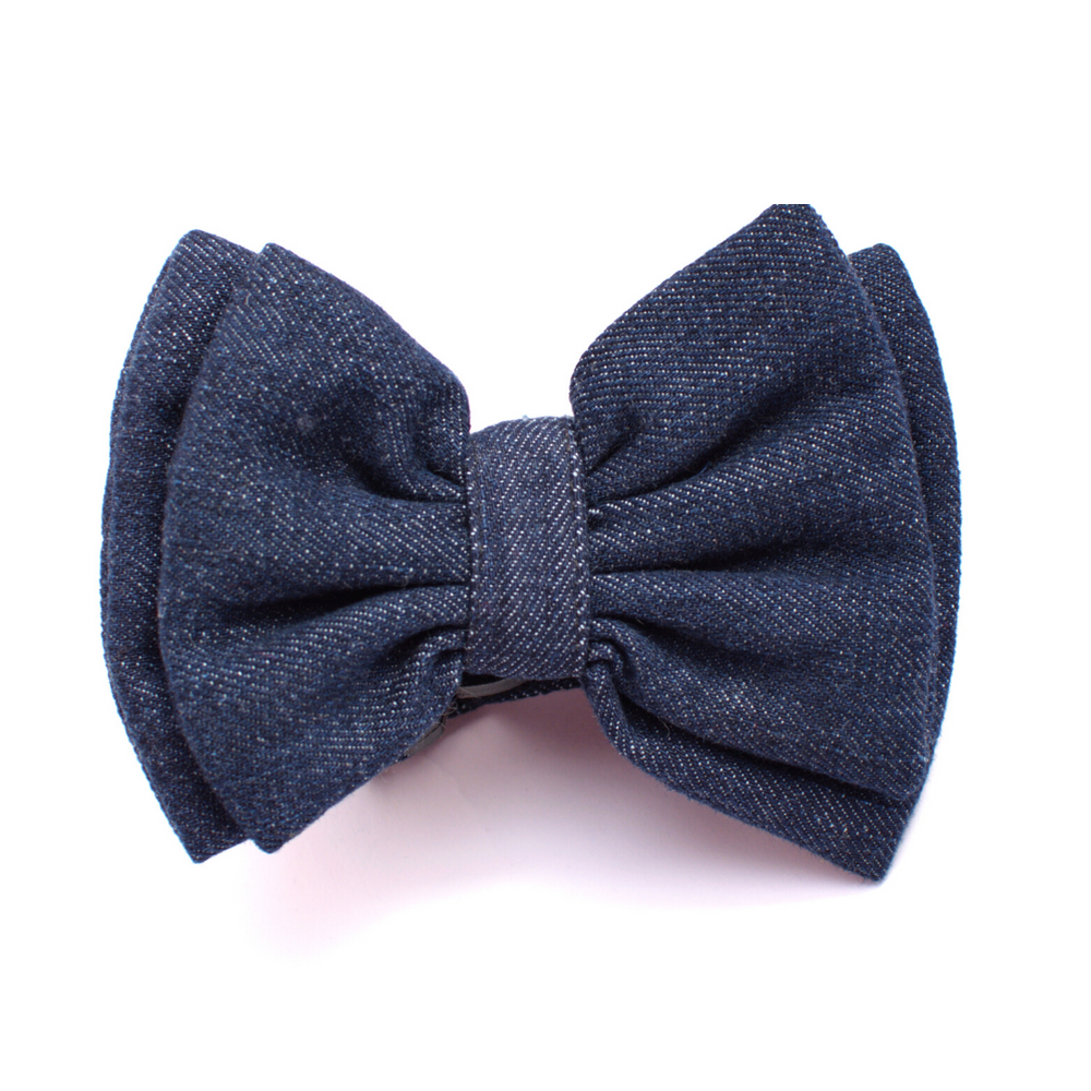 Mutt Of Course Dark Denim Bow Tie