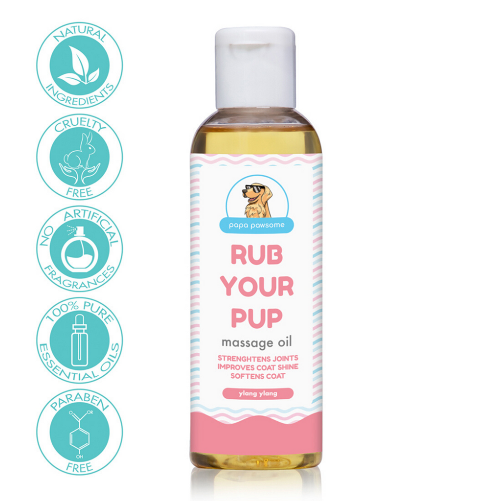 Papa Pawsome Rub Your Pup Massage Oil - 100ml