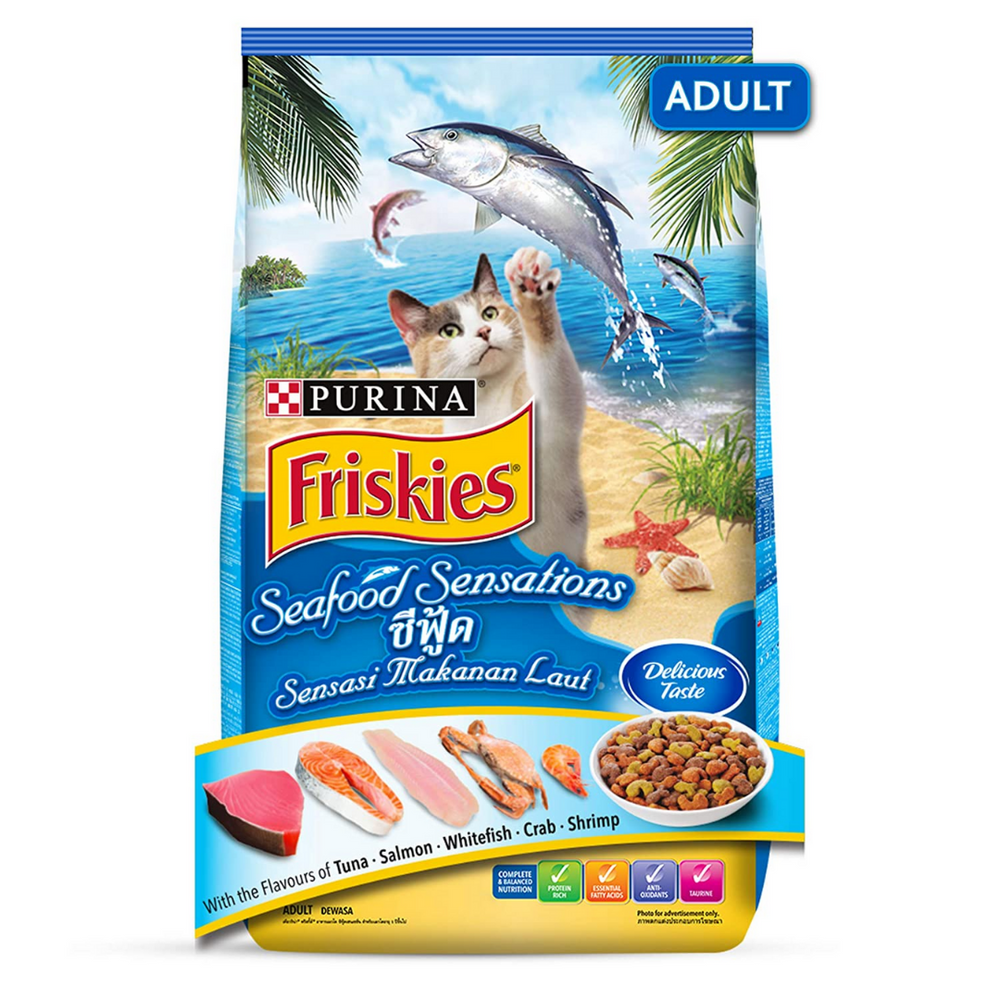 Purina Friskies Dry Cat Food - Seafood Sensations (Adult)