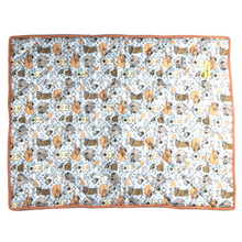 Stars and Snowflakes Digital Print Cotton Blanket - Dogs