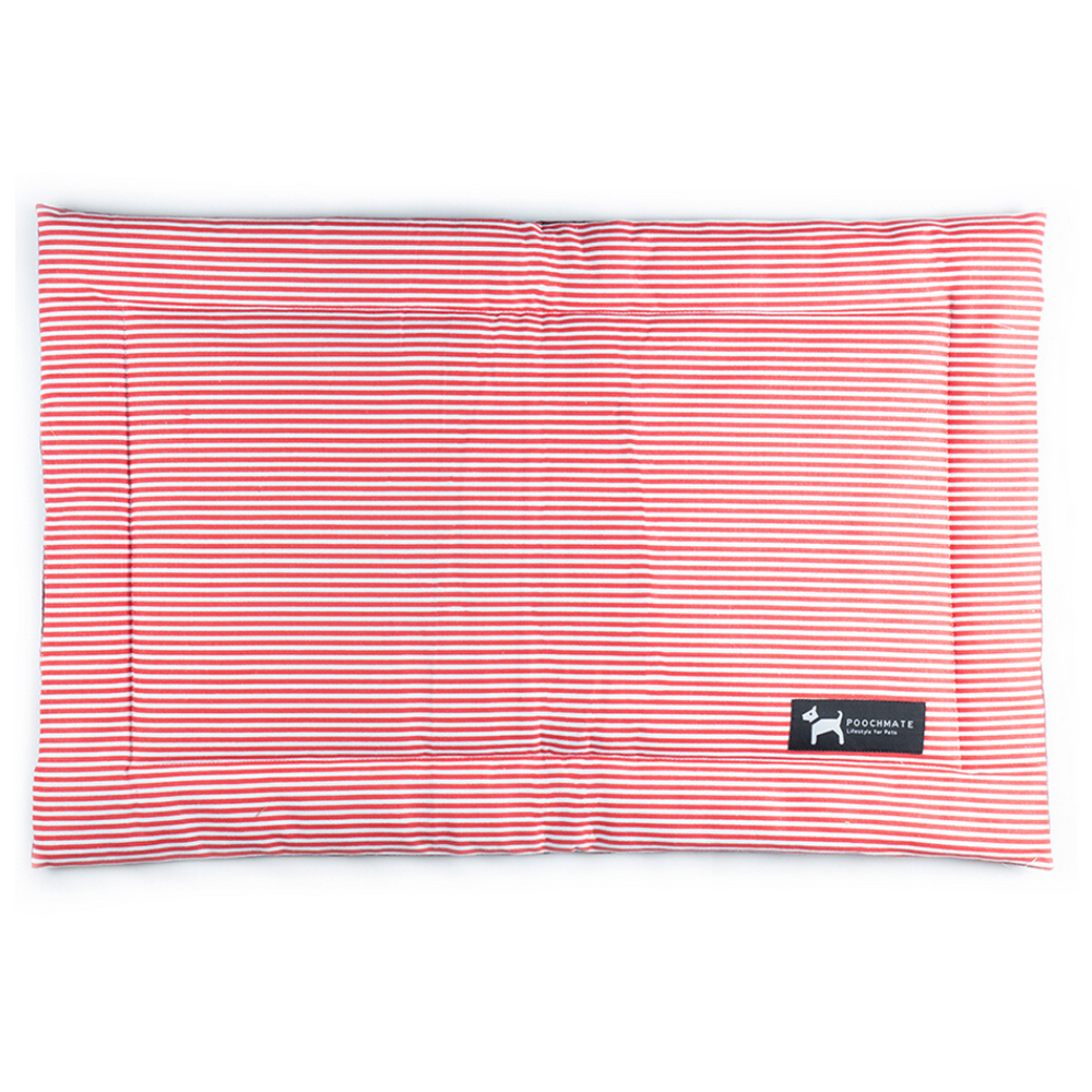 PoochMate Mat - Red Sailors Stripe