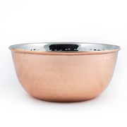 PoochMate Hammered Copper Steel Bowl