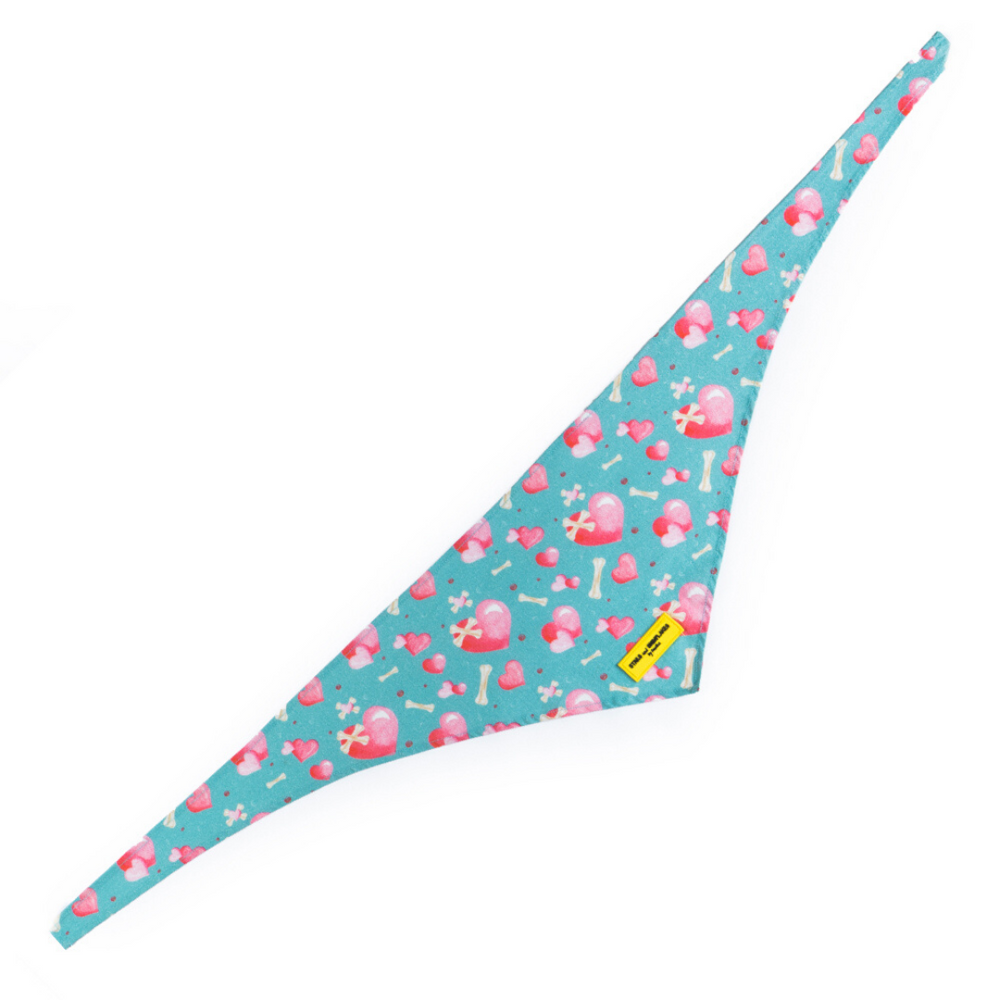 Stars and Snowflakes Digital Print Cotton Bandana - Love Petsy (Exclusive to Petsy)