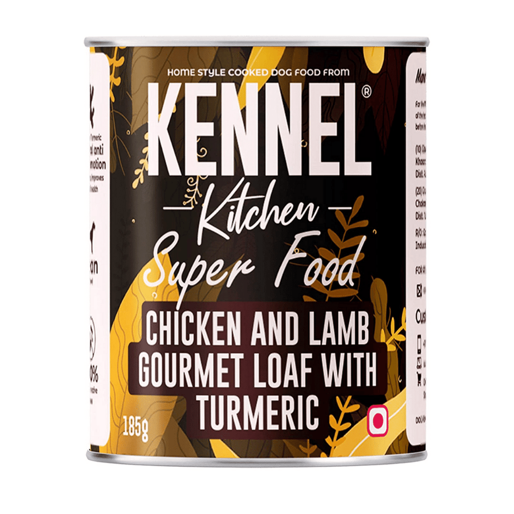 Kennel Kitchen - Super Food - Chicken & Lamb Gourmet with Turmeric (Pack of 6 x 185g)