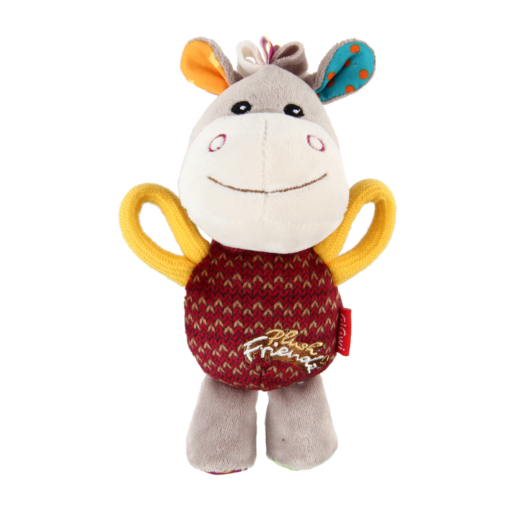 GiGwi Plush Friendz with squeaker - Donkey