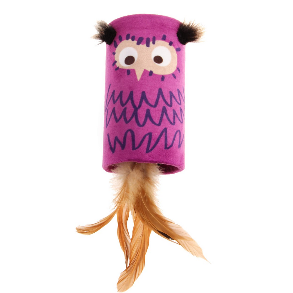 GiGwi Cat Toys - Melody Tube 'Melody Chaser' Owl with sound chip