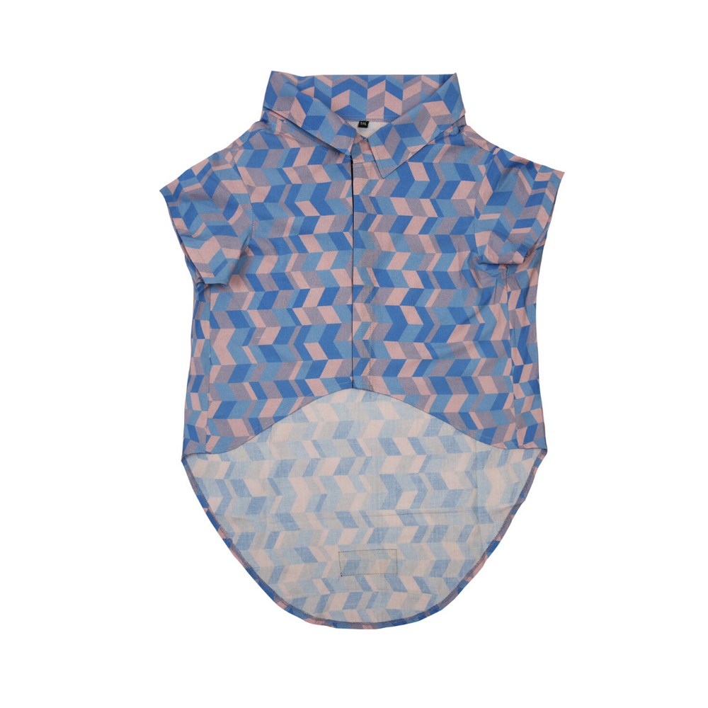 Mutt Of Course Dog Clothes - Geometrical (Light) Shirt