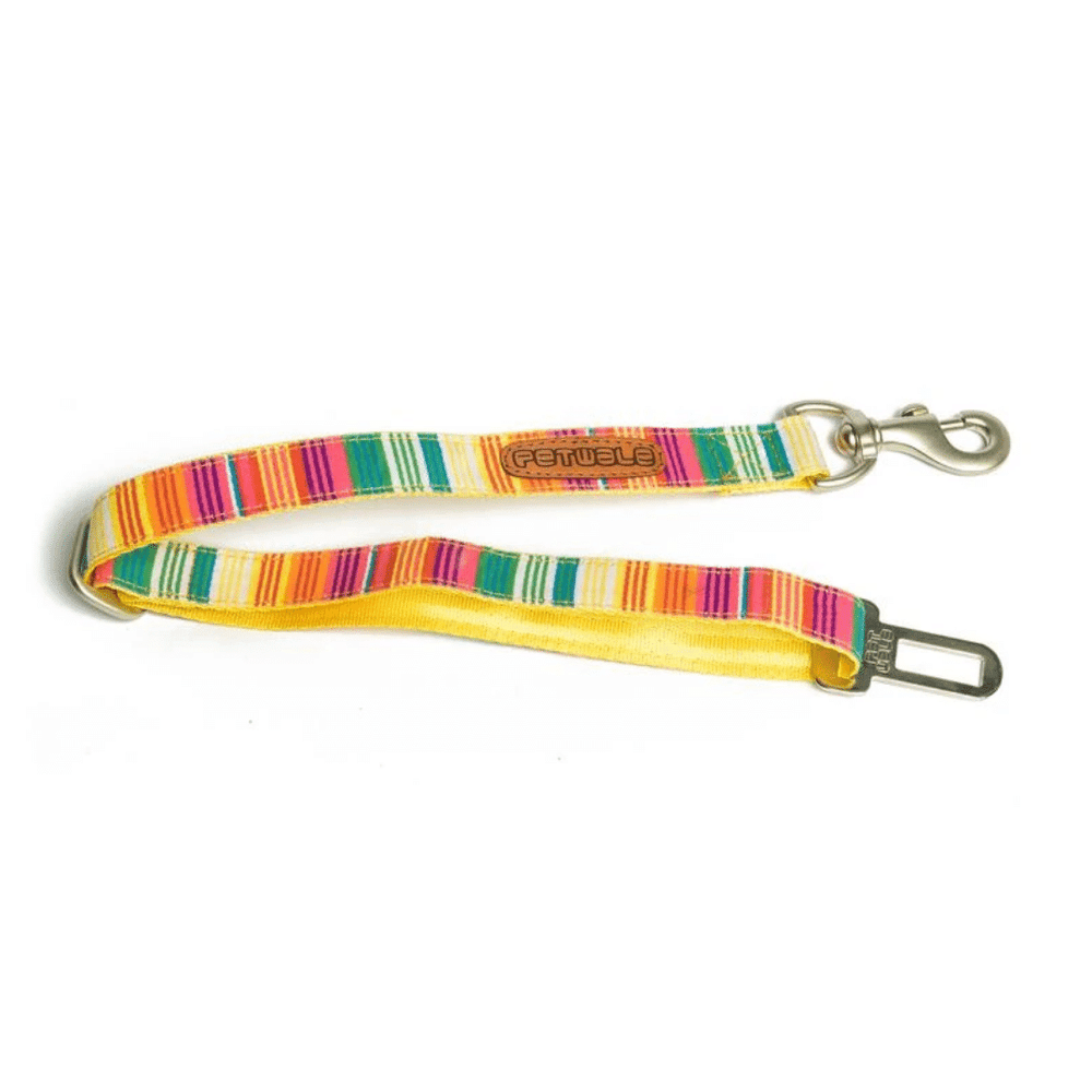 Petwale Car Seatbelt - Colourful Stripes