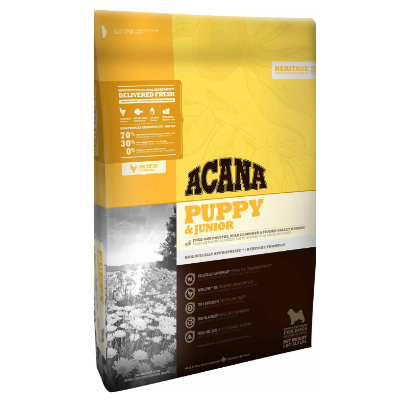 Acana Puppy & Junior Dog Food (Multiple Sizes)