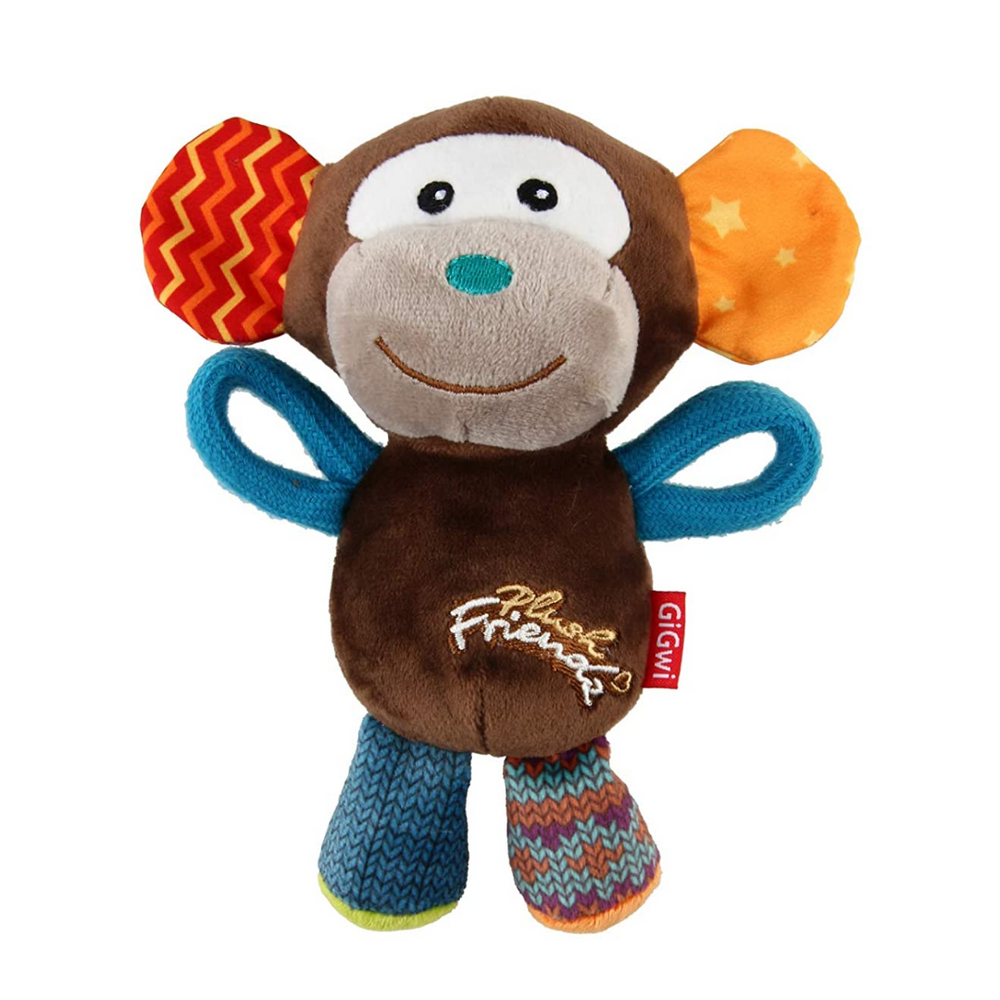 GiGwi Plush Friendz with squeaker - Monkey