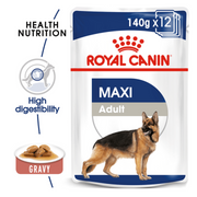 Royal Canin Maxi Adult Wet Dog Food (10 x 140g Gravy Pouches)