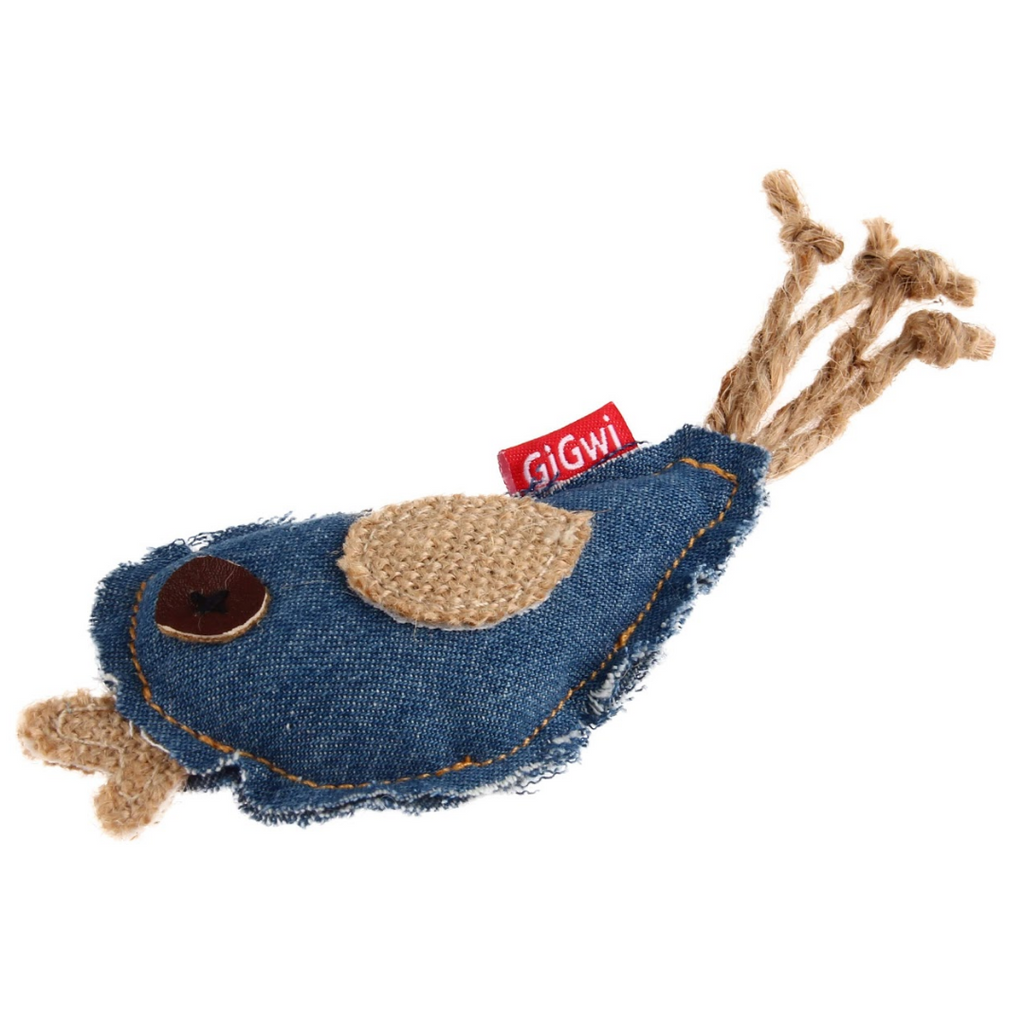 GiGwi Cat Toys - Catch & Scratch - Jean Bird w/catnip