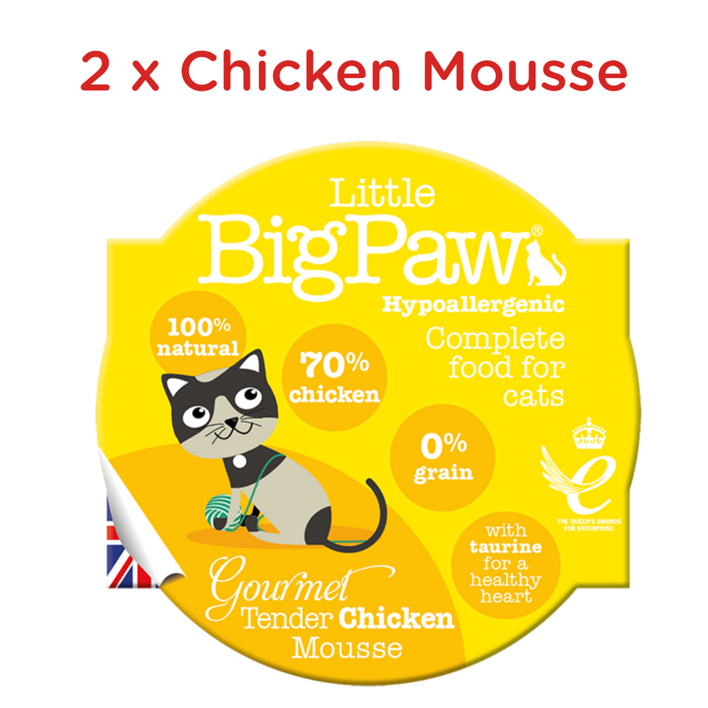 Little BigPaw Cat Wet Food - Gourmet Poultry Mousse Selection - Pack of 6 (6 x 85 gms)