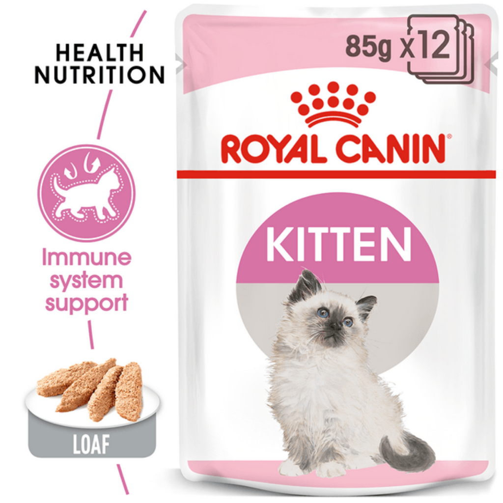 Royal Canin Kitten Food - Instinctive Loaf (85g x 12 Pouches)