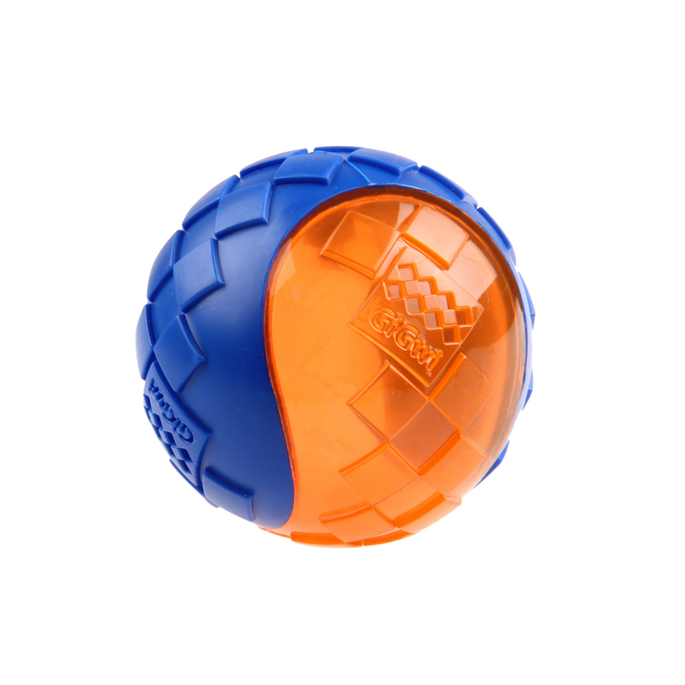 GiGwi Ball Squeaker - Blue/Orange