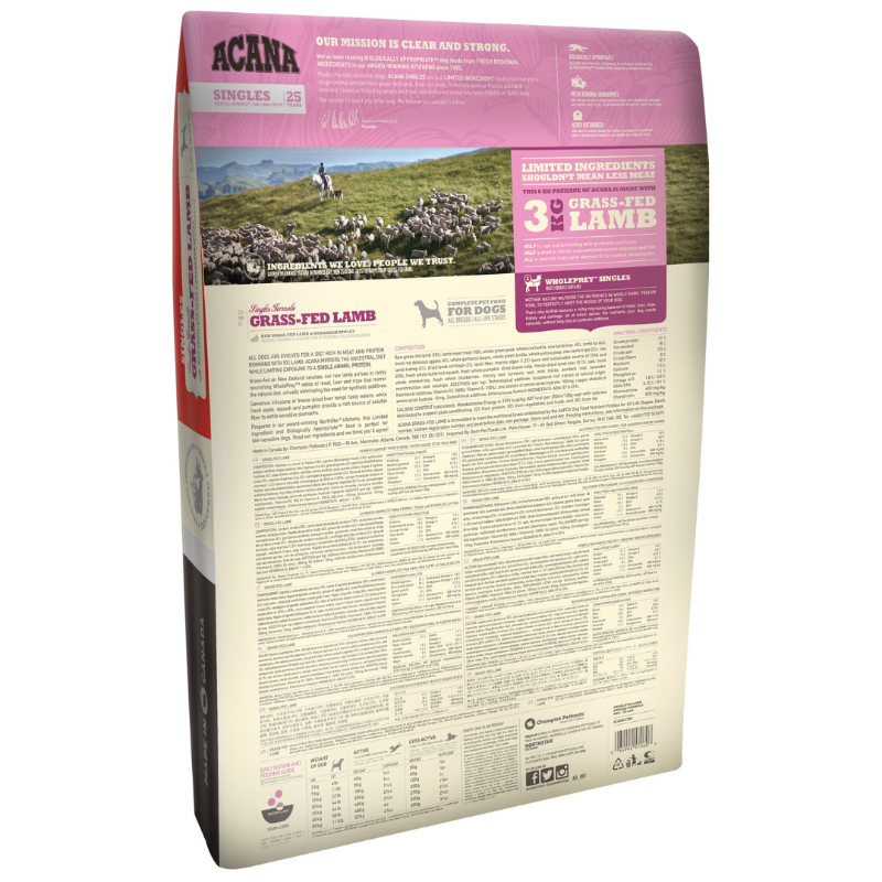 Acana Grass Fed Lamb Dog Food (Multiple Sizes)