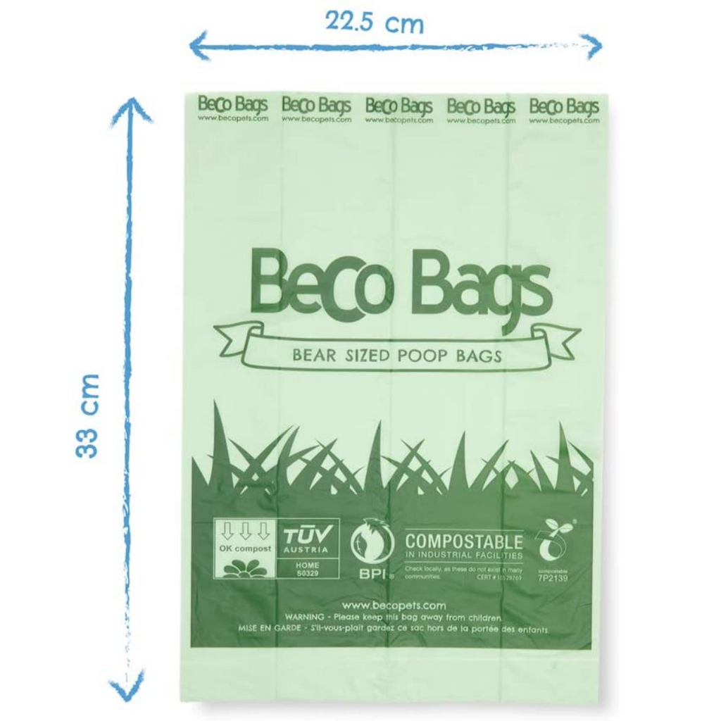 Beco Pets - Eco-Friendly, Compostable Dog Poop Bags (Pack of 60)