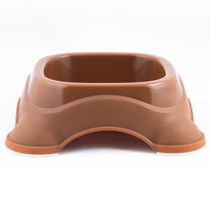 M-Pets Plastic Single Bowl - Brown