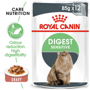 Royal Canin Cat Food - Digestive Care (85g x 12 Pouches)
