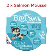 Little BigPaw Cat Wet Food - Gourmet Seafood Mousse Selection - Pack of 6 (6 x 85 gms)
