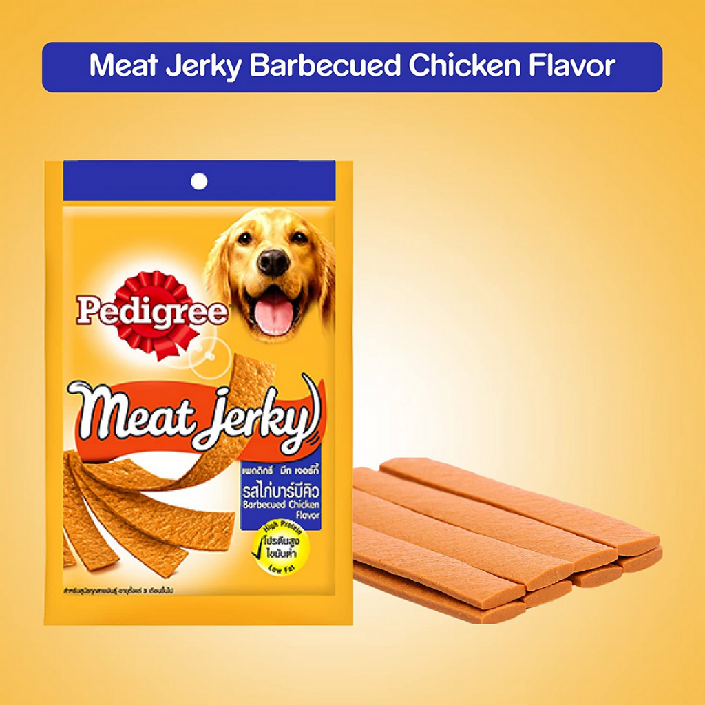 Pedigree Meat Jerky Dog Treats - Barbeque Chicken - 80g