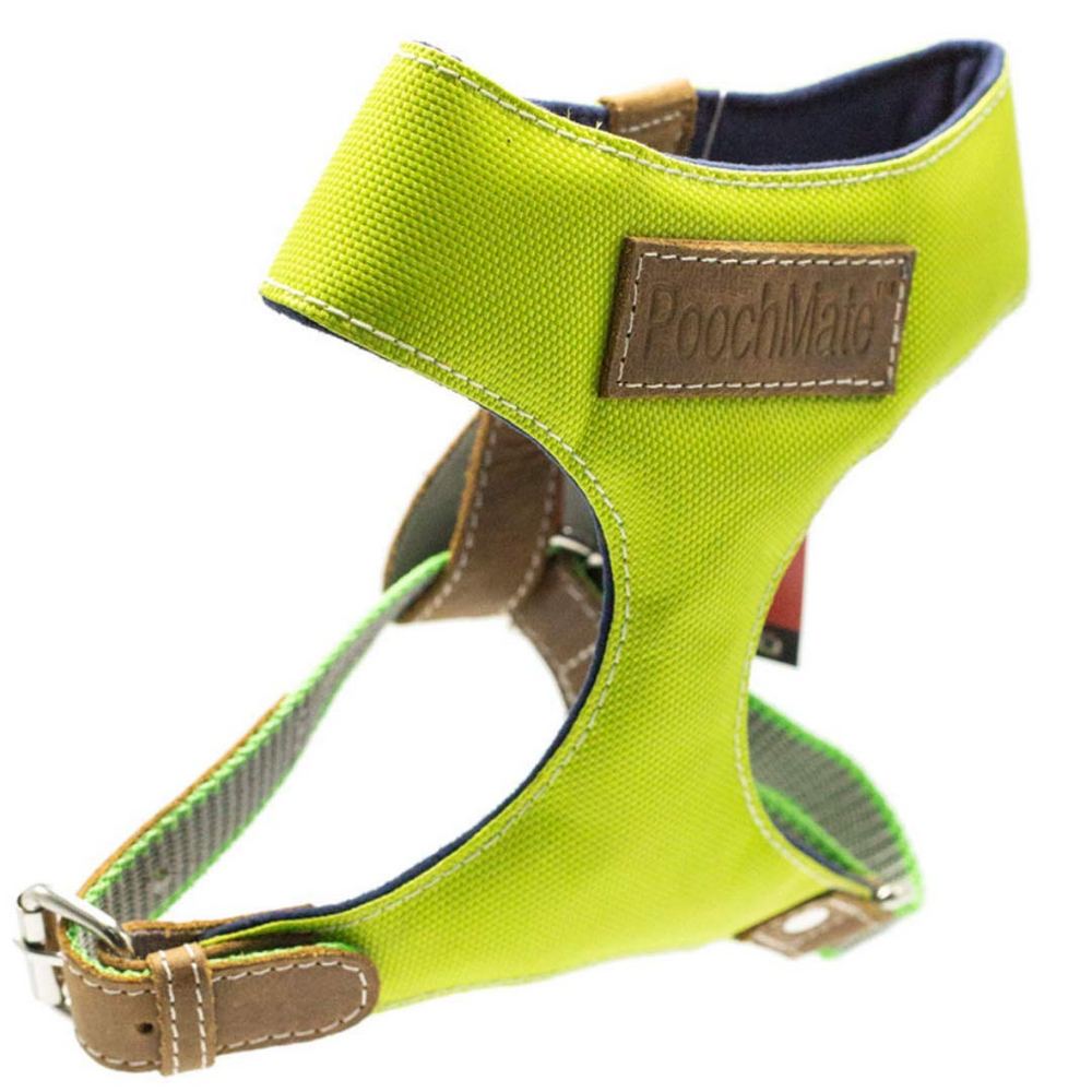 PoochMate Harness - Green Canvas