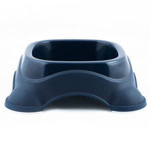 M-Pets Plastic Single Bowl - Navy Blue