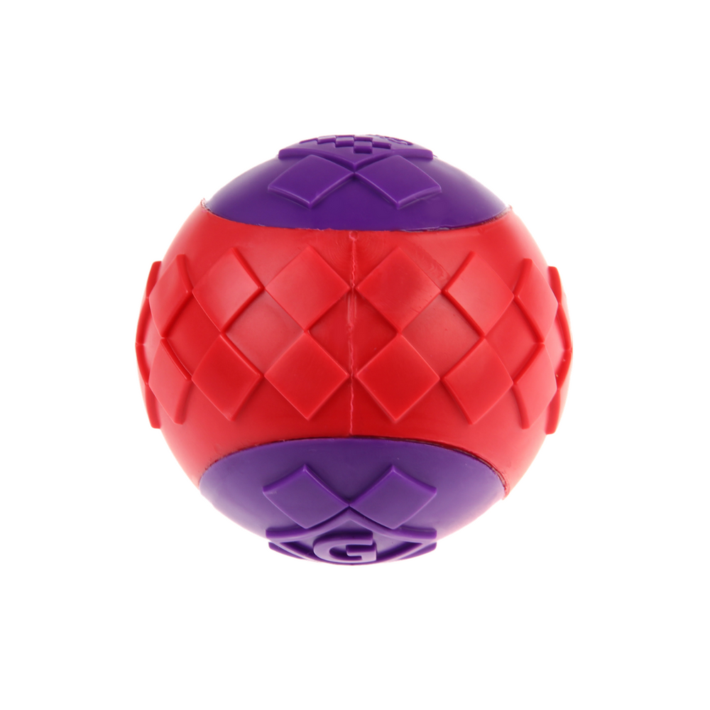 GiGwi Ball Squeaker - Red/Purple