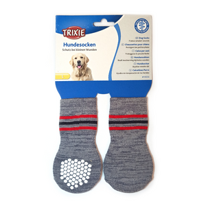 Trixie Non-Slip Socks for Dogs - Grey (Set of 2)